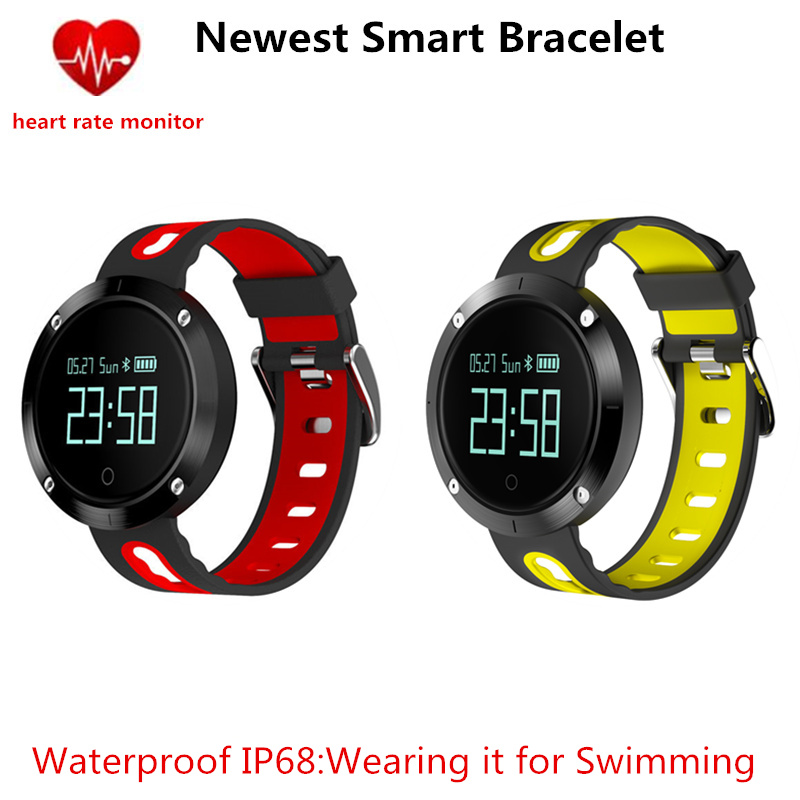 2017 Newest Smart Bracelet DM58 Blood Pressure Heart Rate Monitor IP68 waterproof Call reminder Activity Tracker