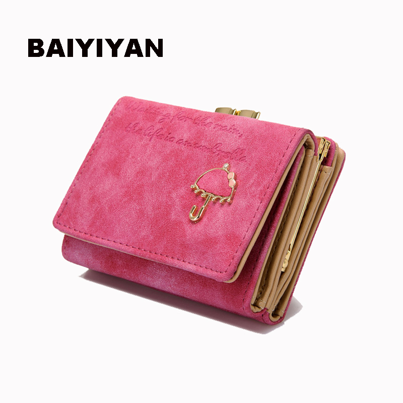 2018 New Cute Anime PU Leather Trifold Slim Mini Wallet Women Small Clutch Female Purse Coin Card Holder Dollar Bag