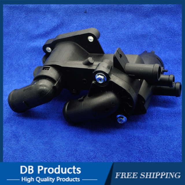 Thermostat Housing Water Outlet with sensor/032 121 111AP /032121111AN/032121111BG For SEAT CORDOBA Volkswagen Polo SKODA FABIA