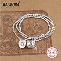 100% real pure 925 joyas de plata collares y colgantes collar redondo para las mujeres de regalo de navidad envío gratis JWN80447