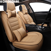 Kokololee Pu Leather Car Seat Covers For Peugeot 406 Chevrolet Captiva Mitsubishi Pajero 4 Skoda Octavia