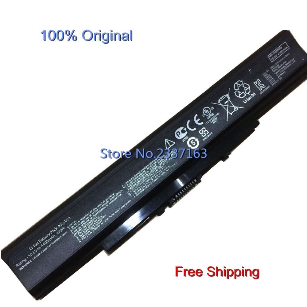 IECWANX 100% new Laptop Battery A32-U31 (10.8V 47Wh 6Cell) for Asus U31/U41/P31/P41 Series Laptop
