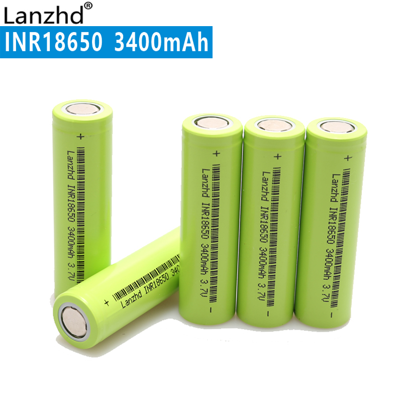 2018 NEW Li ion 18650 3400mah New Original INR18650 30A large current Rechargeable Li-ion battery for Flashlight (1-8pcs) 8pcs lot new original sanyo 18650 2600mah ur18650zy 3 7v li ion rechargeable battery free shipping