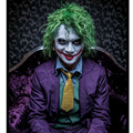 Sofeel 30cm Batman Clown Joker Light Green Curly Cosplay Wig Cool Synthetic Hair Anime Cosplay Wig hair wig