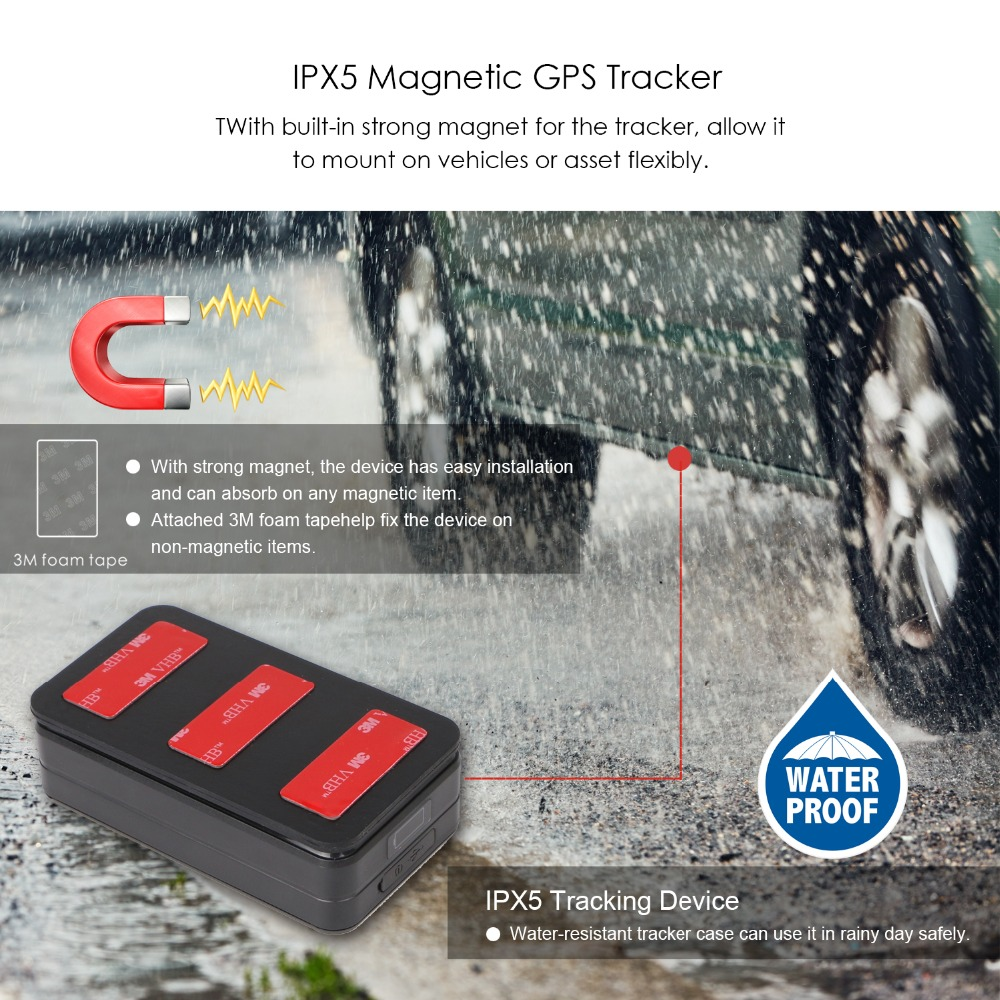 AT4 Strong Magnet GPS Tracker Car 2G IPX5 Waterproof 10000mAh Long Time Standby Real Time Tracking Voice Monitor GSM GPS Locator - 3