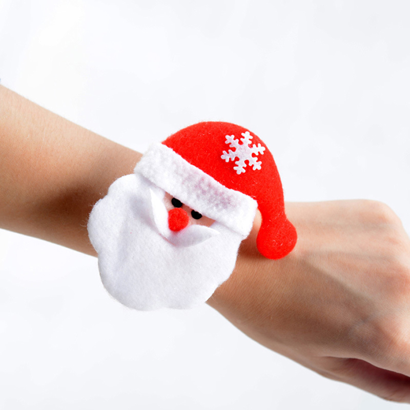 (6 pieces/lot) Christmas Kids Gift Pops Circle Bracelet Santa Claus Snowman Bear Elk Pat Ring Sequin Wristband Kids Gift C016
