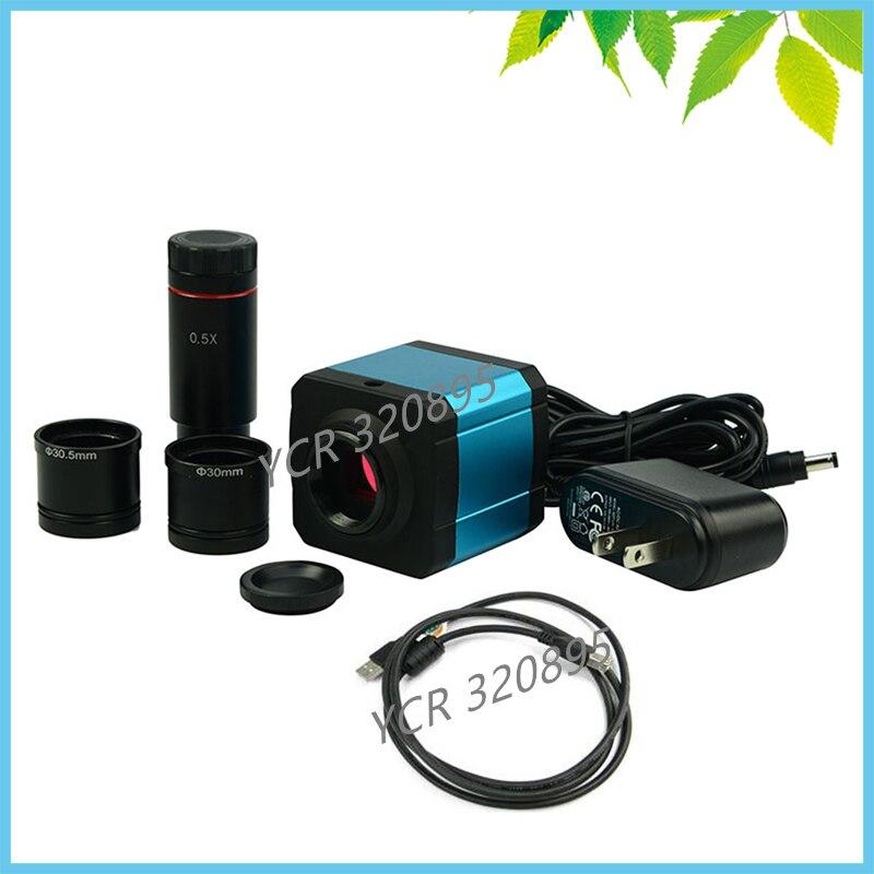 HDMI электронный окуляр микроскопа 14mp промышленности Цифровой Камера TF видео перекодировщик цифровой окуляр с 0.5x C крепление