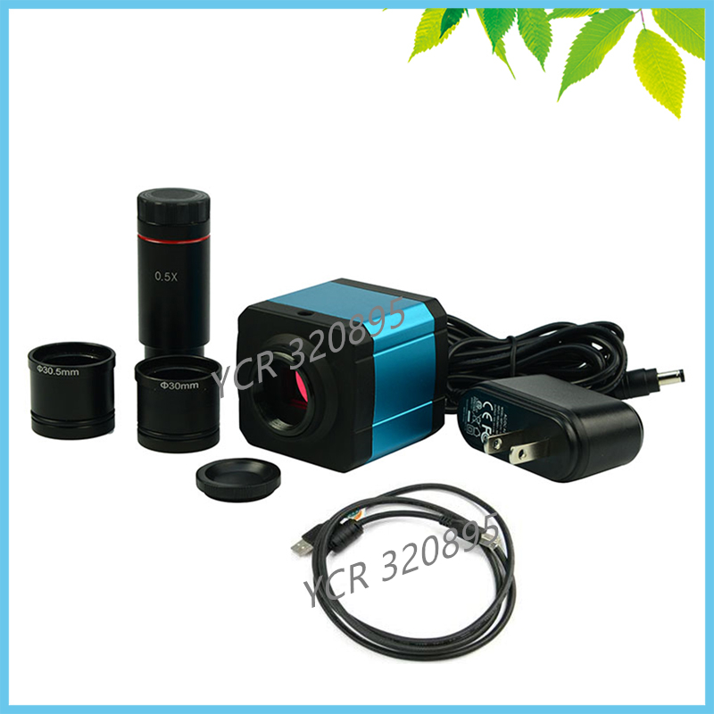 HDMI Microscope Electronic Eyepiece 14MP Industry Digital Camera TF Video Recoder Digital Eyepiece with 0.5X C Mount