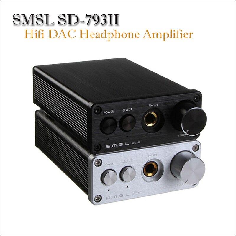 SMSL SD-793II Home DAC Audio Amplifier Optical Portable DAC Amp DIR9001 PCM1793 OPA2134 Built-in Headphone Amplifier Dac Spdi topping nx3 portable earphone hifi stereo audio amplifier amp tpa6120a2 opa2134