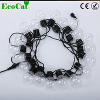 ECO Cat Novelty Outdoor Lighting G45 LED Bulb Ball String Lamps White Wire Christmas Lights Fairy