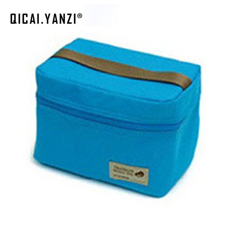 QICAI.YANZI 2017 Brand New Thermal Cooler Waterproof Picnic Storage Insulated Lunch Bag Portable Carry Tote High Quality N561 high quality insulated lunch bag waterproof lunch thermal cooler bag carry storage picnic bag pouch lunch bags bolsa termica