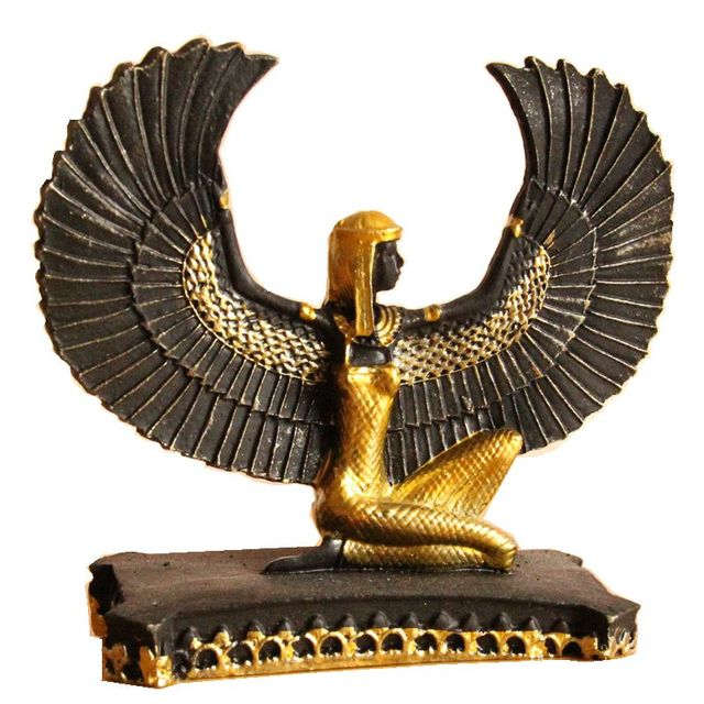Isis el Dios de la fertilización en la antigua estatua de Egipto artesanía de resina creativa colección de regalos de recuerdo de turismo decoración del hogar