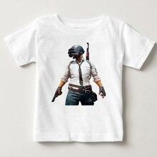 gaming playerunknowns battlegrounds pubg t-shirts children winner chicken dinner t shirt fashion videogames boys MJ