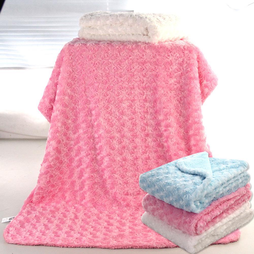 Baby Blanket & Swaddling Newborn Thermal Soft Fleece Blanket Rose Velvet Soft Infant Toddler Stroller Sleeping Swaddle Warp