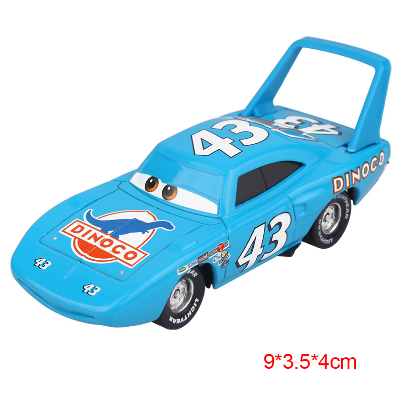 Дисней Pixar Тачки 2 3 Молния Маккуин матер Джексон шторм Рамирез 1:55 литье под давлением автомобиль металлический сплав мальчик малыш игрушки Рождественский подарок - Цвет: The King