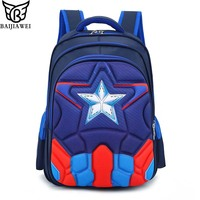 BAIJIAWEI Boys Spine Protection Backpack Alleviate Burdens Children Shoulder Backpack Elementary School 1 6 Grade School