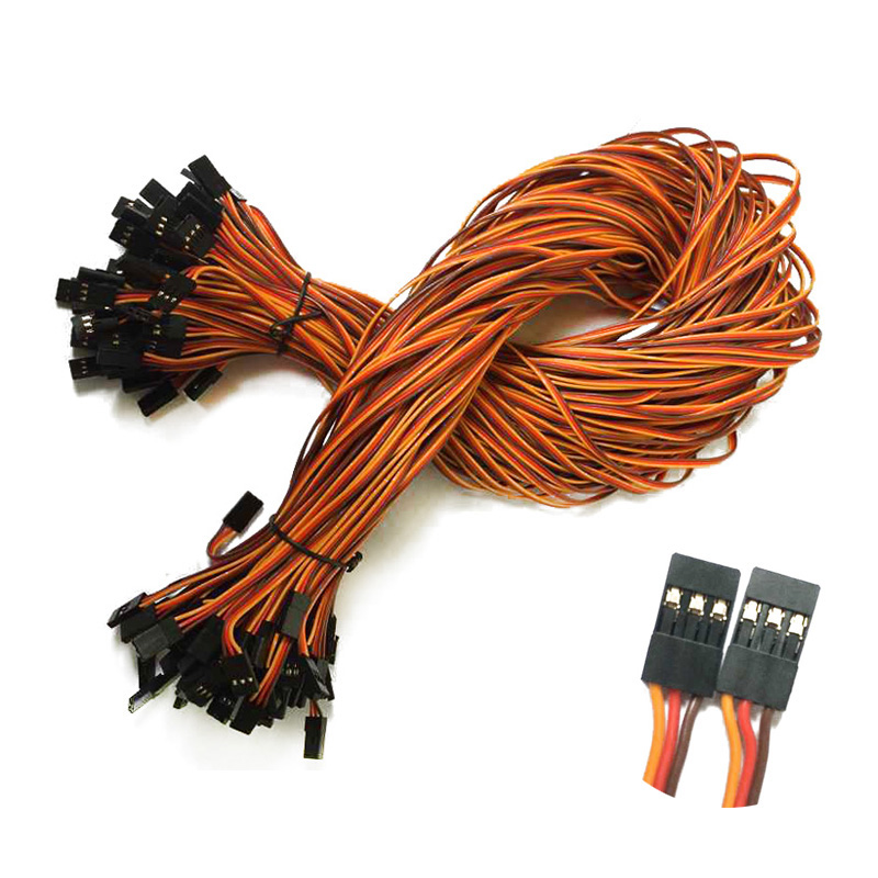 100pcs lot 600mm JR male to male servo extension cable wire JR Futaba servo cable Free