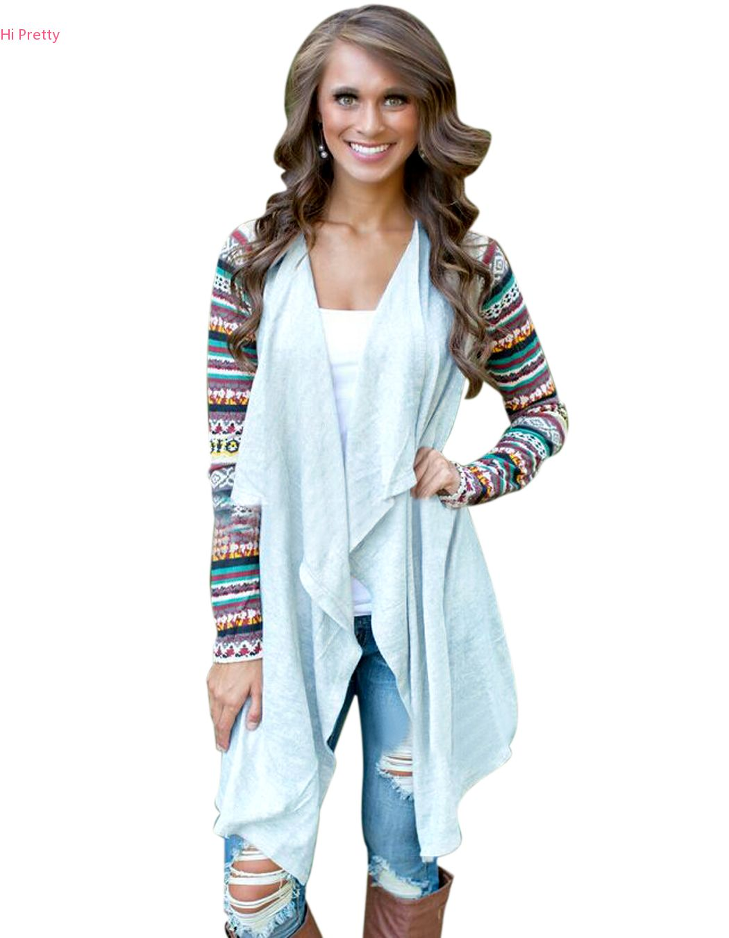 Women Cardigan Casual Knitted kimono Cardigan Long Sleeve ...