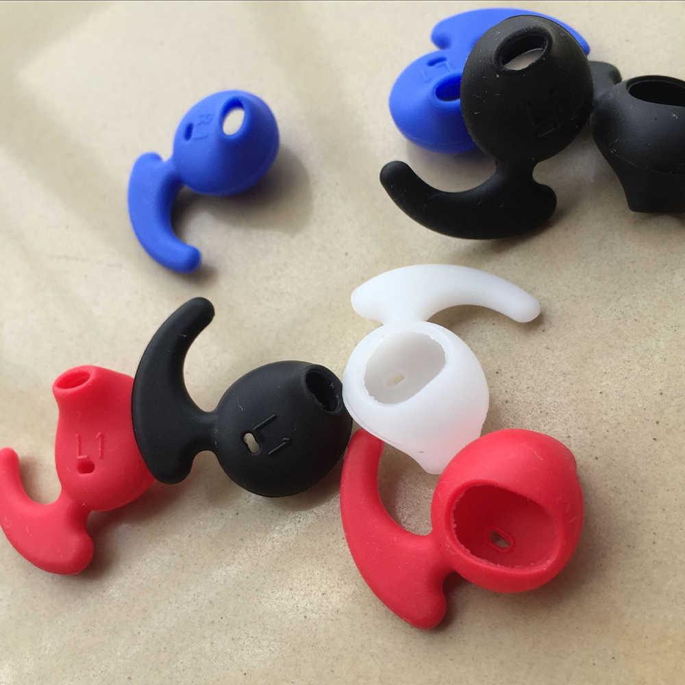 Funda de silicona para auriculares en la oreja 1 foto Piel de silicona suave auricular reemplazo de gancho para Samsung Xiaomi auriculares deportivos Bluetooth