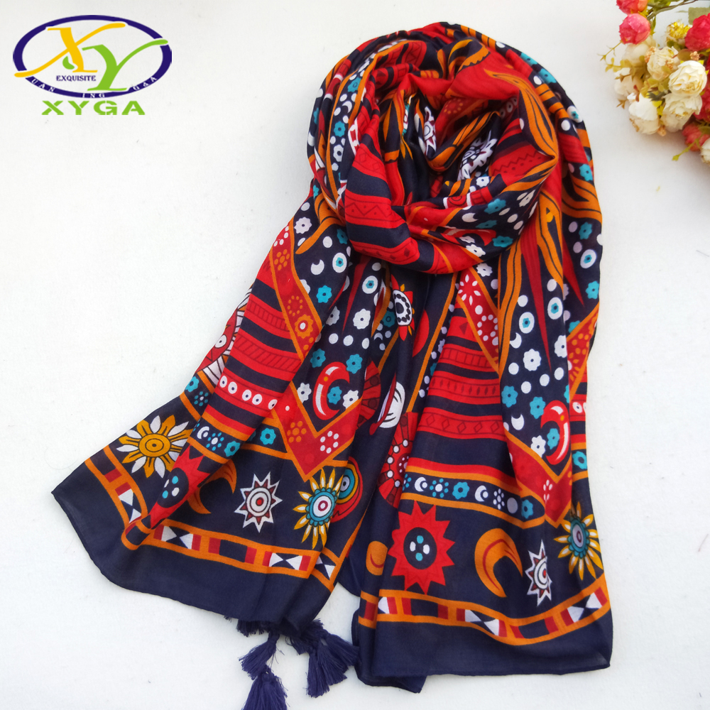 1PC180*100cm 2017 Spring New Ethnic Style Acrylic Cotton Women Long Tassels Scarf Thin Woman ViscoseVoile Shawl Pashminas
