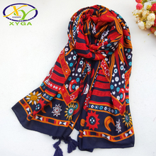 1PC180*100cm 2017 Spring New Ethnic Style Acrylic Cotton Women Long Tassels Scarf Thin Woman ViscoseVoile Shawl Pashminas