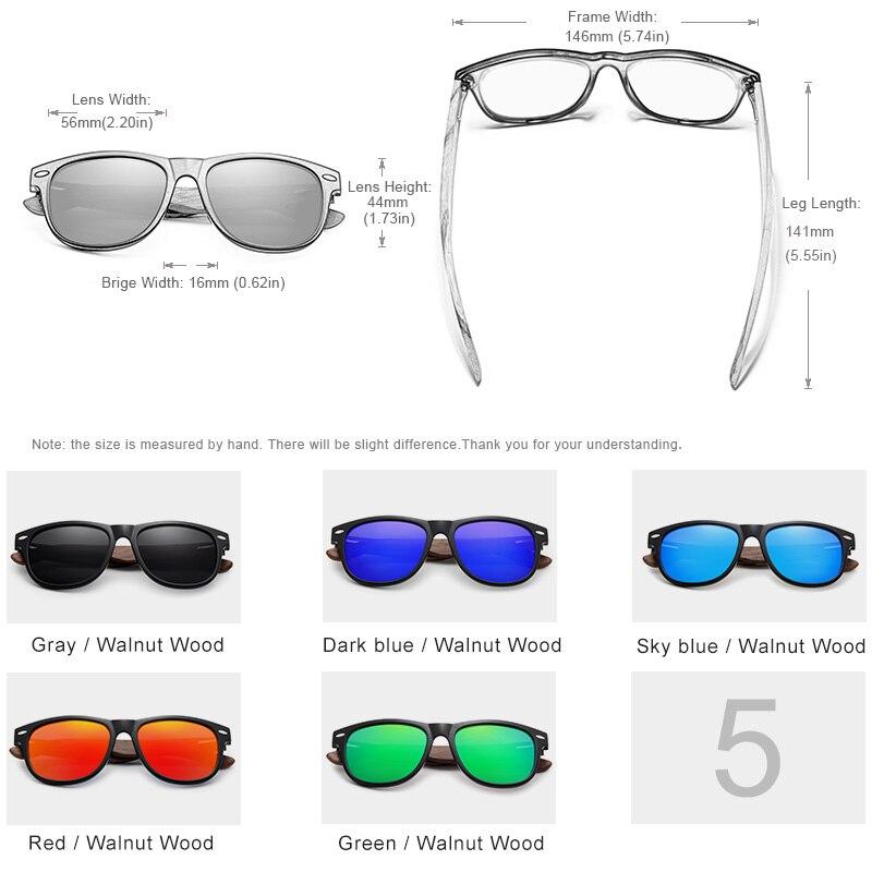f0546e4713ae KINGSEVEN Handmade Black Walnut Sunglasses Mens Wooden Eyewear Women ...