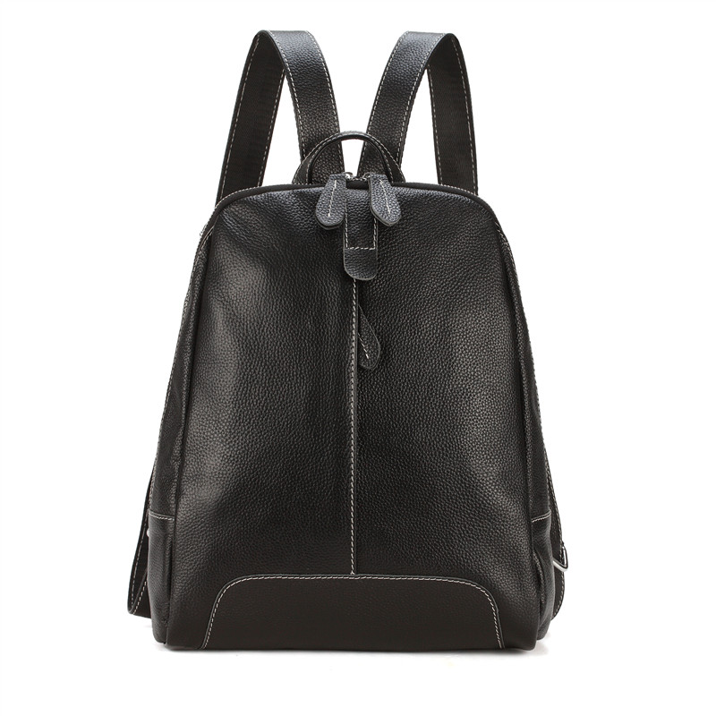 все цены на New arrival school bags first layer of leather backpack women genuine leather shoulder bags soft preppy style travel bag в интернете
