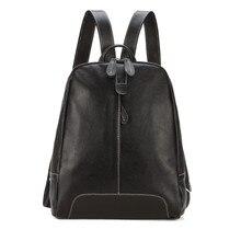 Новое поступление школьные сумки первый слой кожи рюкзак женщины плеча неподдельной кожи сумки мягкой опрятный стиль дорожная сумка