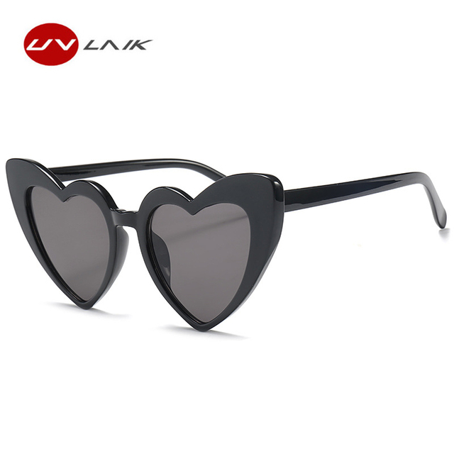 24fc5077438 UVLAIK Heart Sunglasses Women brand designer Cat Eye Sun Glasses Retro Love  Heart Shaped Glasses Ladies