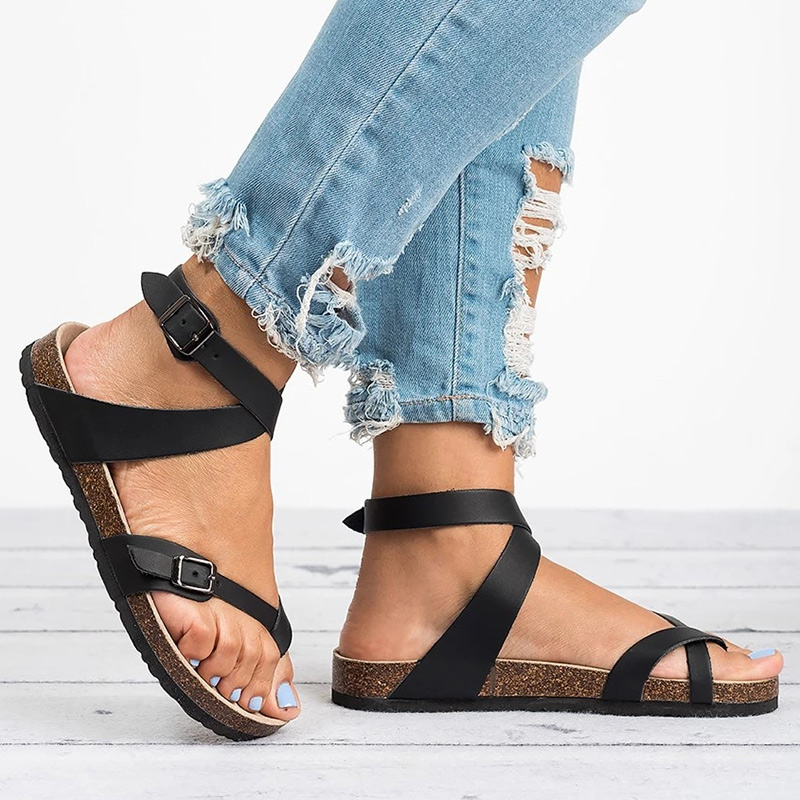 Basic Women Sandals 2019 New Women Summer Sandals Plus Size 43 Leather Flat Sandals Female Flip Basic Women Sandals 2019 New Women Summer Sandals Plus Size 43 Leather Flat Sandals Female Flip Flop Casual Beach Shoes Ladies