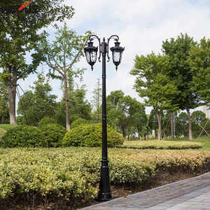 Image 5 - (H≈ 2.6 متر) فيلا المنزل في الهواء الطلق مصباح حديقة بارك المجتمع المشهد الشارع إضاءة مشروع مصباح الشارع
