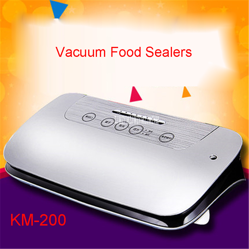 KM-200 220-240V KitchenBoss sealer Empty Family Vacuum Automatic Sealing wet and dry Vacuum packaging machine Food Sealers philips brl130 satinshave advanced wet and dry electric shaver