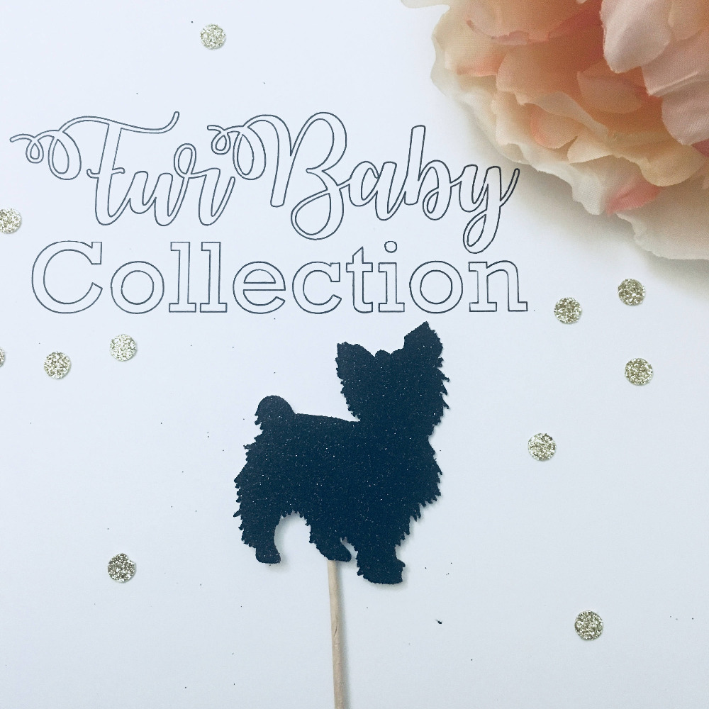 Yorkie cupcake toppers, yorkshire terrier cupcake topper, dog cupcake toppers cupcake topper, Birthday party cupcake
