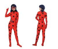 Kids Adult Miraculous Ladybug Cosplay Costume Spandex Lycra Zentai Women Halloween Costume