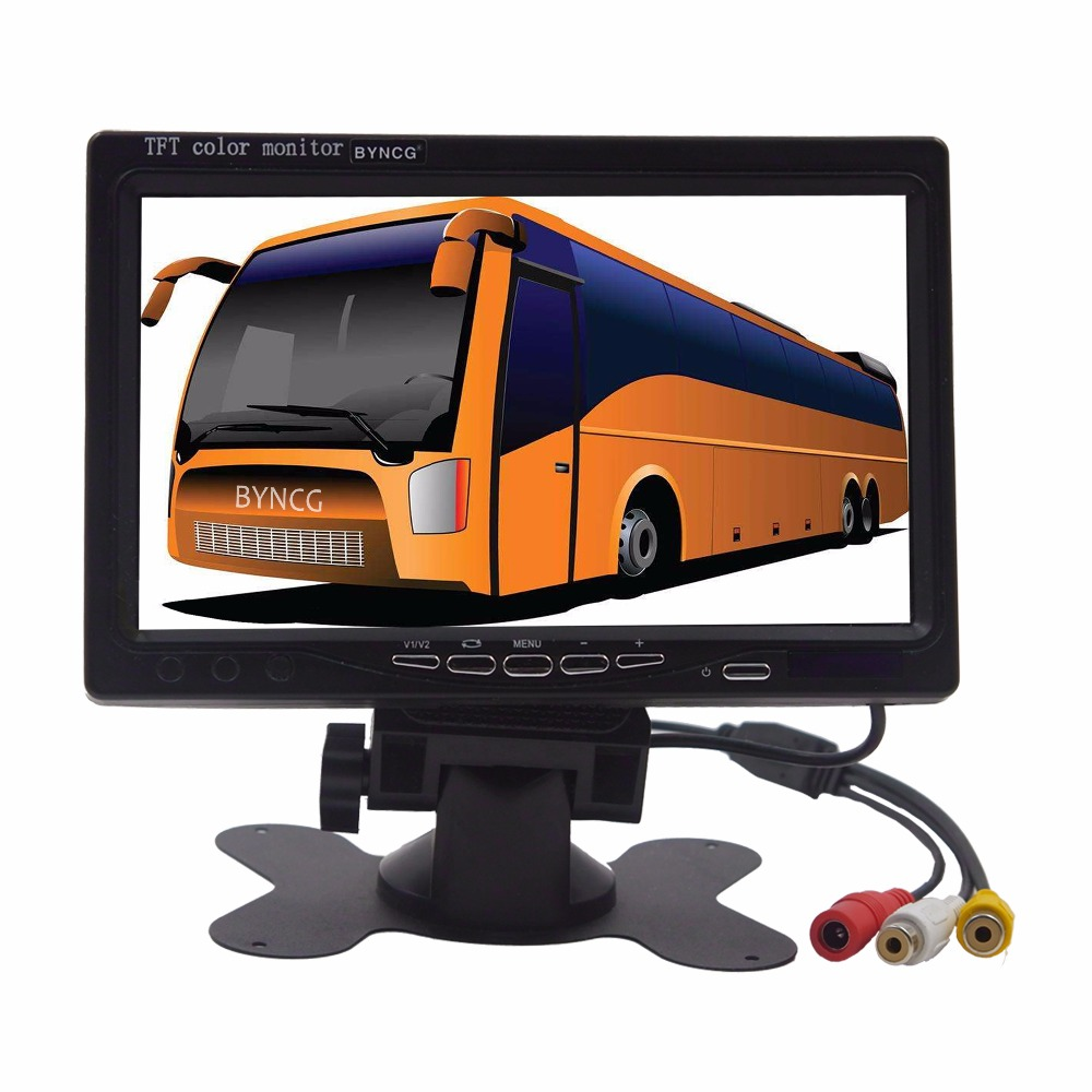 7 Color TFT LCD Folding Car Parking Assistance Monitors DC 12V Foldable Car Monitor for Rear View Camera