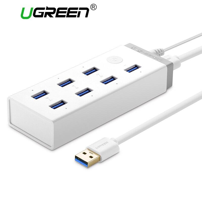 bilder für Ugreen USB 3.0 HUB 7 Port Super Speed USB Splitter mit 12 V 4A Power Charging Adapter für Macbook Computer-Hubs Usb 3.0