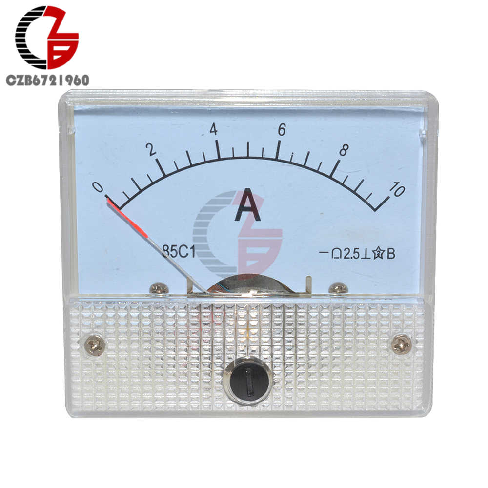 DC10A Gb/T7676-98 Analoge Panel Amp Current Meter Ammeter Gauge 85C1 Wit 0-10A