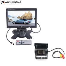 цена на New 7 Car/Bus/ Truck Rear View LCD Standalone Monitor System Kit with 18 IR LED Reversing Back up Camera