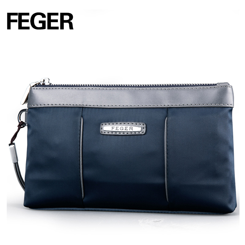 FEGER Nylon Handy Zipper Handväska Man Wristlet Card Holder Telefon - Plånböcker