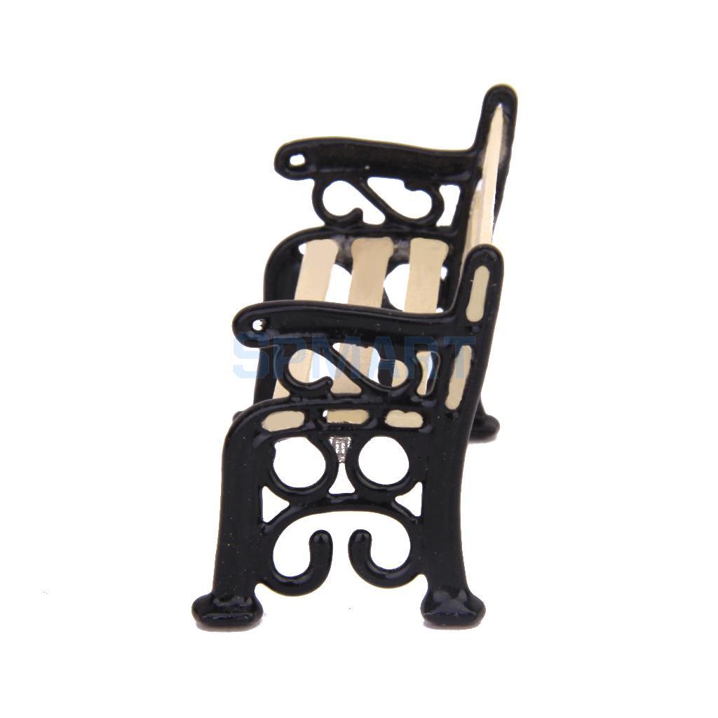 Новинка 2015 Фирменная Новинка 1/24 кукольная Миниатюра патио мебель скамейке в парке Бесплатная доставка