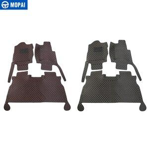 Image 5 - MOPAI Auto Innen Zubehör Leder Fußmatten Fuß Pads Kit Dekoration Abdeckung Für Ford F150 2015 Up Auto Styling