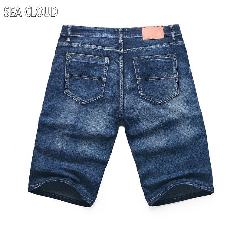 ФОТО Free shipping Sea Cloud plus size summer oversized capris knee-length male denim shorts elastic Straight short jeans size 50