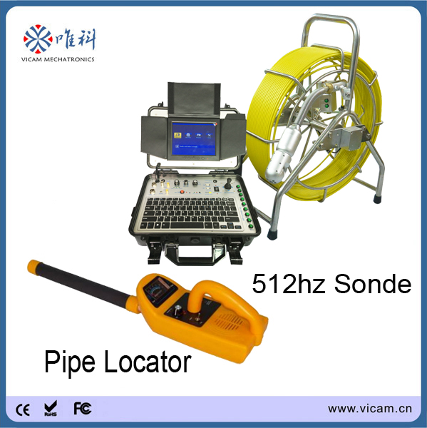 360 degree rotation pipe endoscope camera sonde cctv chimney