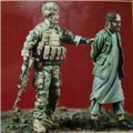 1/35 scale modern US Special Forces and prisoners Resin Model Kit figure Free Shipping