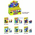 6 Шт./лот Бела 10449-10454 Scooby Doo Фред/Лохматый Строительный Блок Кирпичи Игрушки Фигурку