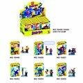 6 Unids/lote Bela 10449-10454 Scooby Doo Fred/Shaggy Ladrillos Bloques de Construcción de Juguetes Figura de Acción