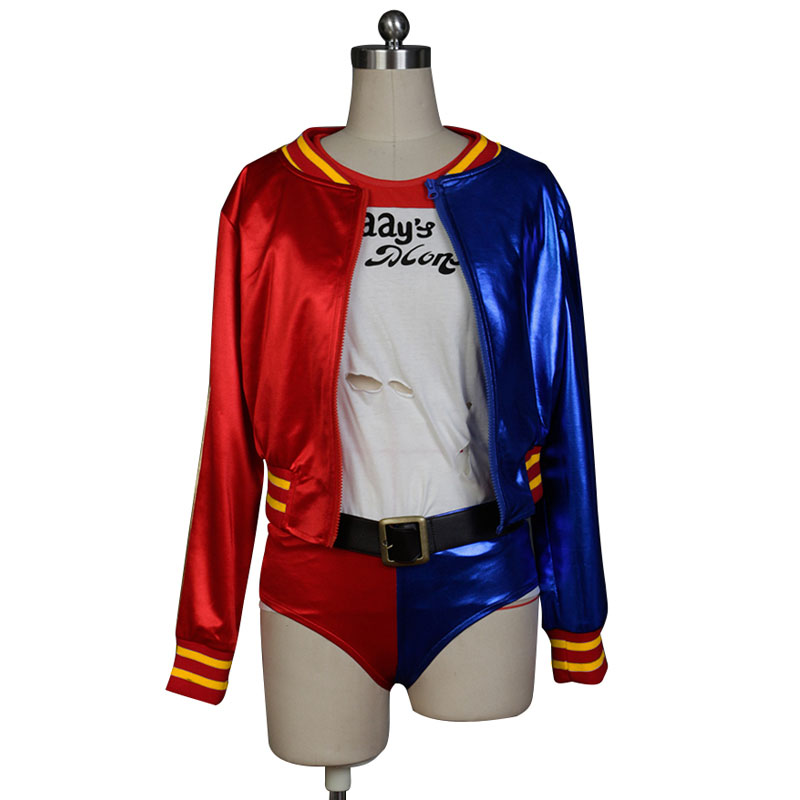 Batman Comics Suicide Squad Harley Quinn Coat Jacket Movie Halloween Cosplay Costumes For Women
