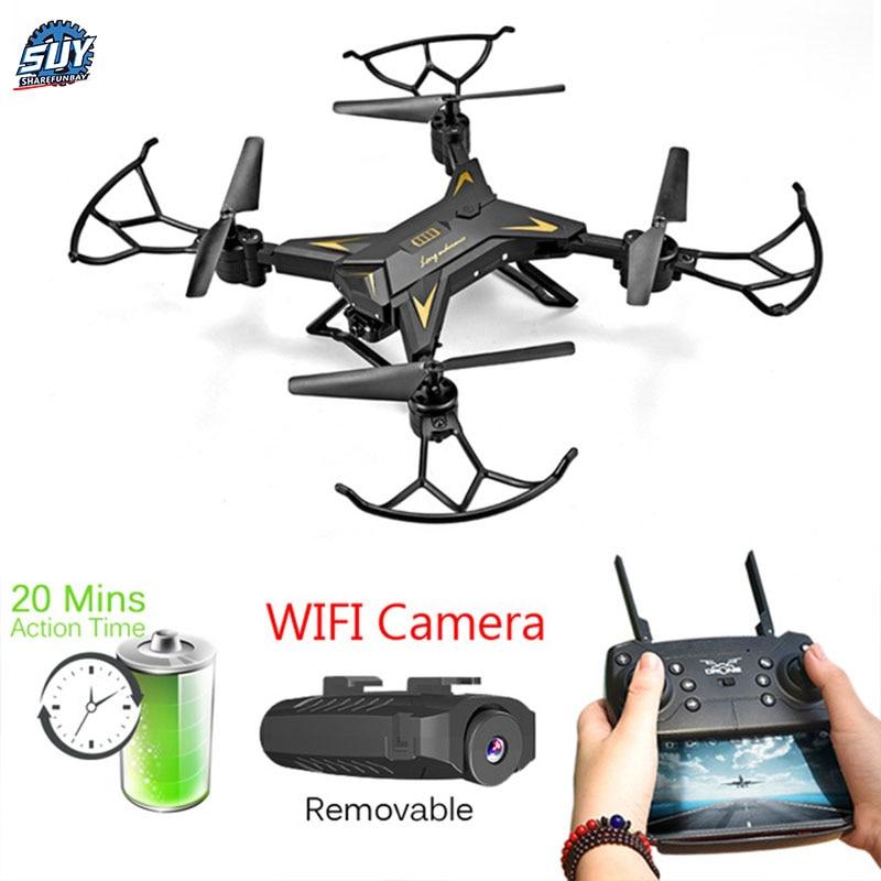 T-Rex RC Hélicoptère Drone avec Caméra HD 1080 P WIFI FPV Selfie Drone Professionnel Pliable Quadcopter sur 20 minutes Pile Vie