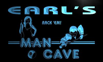 x0098-tm Earls Man Cave Pool Room Custom Personalized Name Neon Sign Wholesale Dropshipping On/Off Switch 7 Colors DHL
