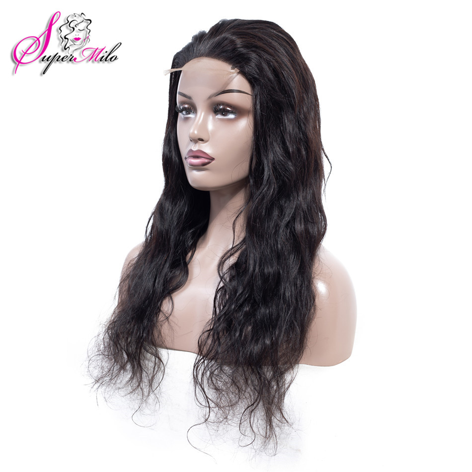 Super Milo Hair Body Wave Lace Front Human Hair Wigs For Women Peruvian Remy Natural Color Hair Lace Front Wigs With Baby Hair(China)